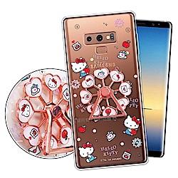 三麗鷗授權 凱蒂貓 Samsung Galaxy Note9 摩天輪指環扣殼(蘋果樂園)