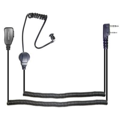 DUALPOWER 無線電對講機專用 黑色 專業空氣導管耳機麥克風(K型 2入)