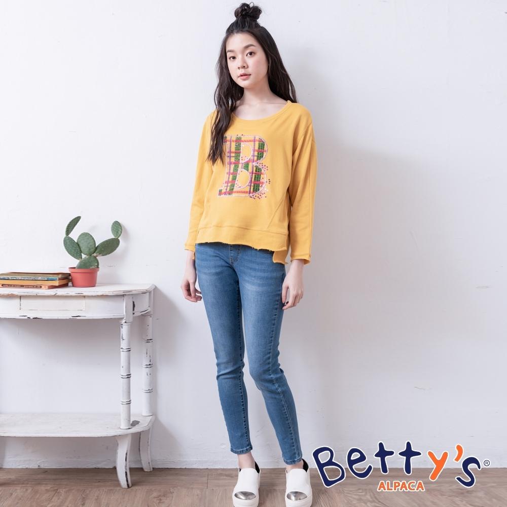 betty's貝蒂思 彈性腰圍修身牛仔褲(牛仔藍)