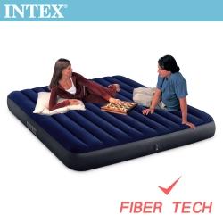 INTEX 經典雙人加大(新款FIBER TECH)充氣床墊-寬152cm(64759)