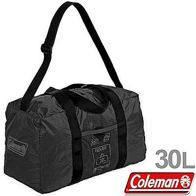Coleman 27016_黑 30L可收摺輕量旅行袋 收納打理袋/裝備袋/行李袋/手提袋