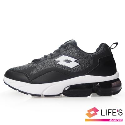 LOTTO 義大利 女 FLOAT 氣墊跑鞋(黑)