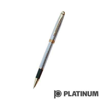 PLATINUM白金 鋼珠筆 |  日系 雕花鍍銀 WAG-600