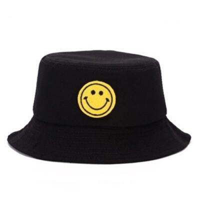 米蘭精品 遮陽防曬笑臉漁夫帽-時尚刺繡百搭情人節生日禮物男女帽子2色73db35