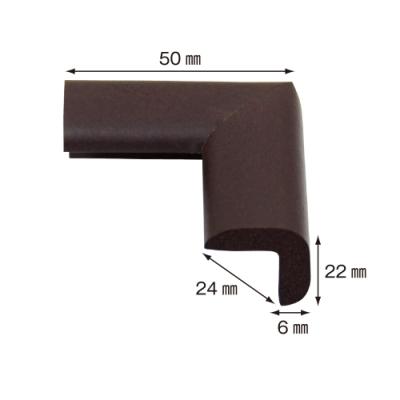 【日本CAR-BOY】尖角防護軟墊(細)(棕)(幫危險尖角加上柔軟防護)