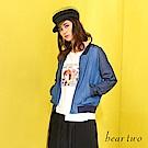 beartwo LoveLoveLove休閒丹寧外套(藍色)