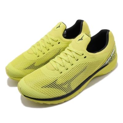 Mizuno 慢跑鞋 Duel Sonic 套入式 男鞋 美津濃 路跑 輕量 透氣 基本 入門 黃 黑 U1GD203444