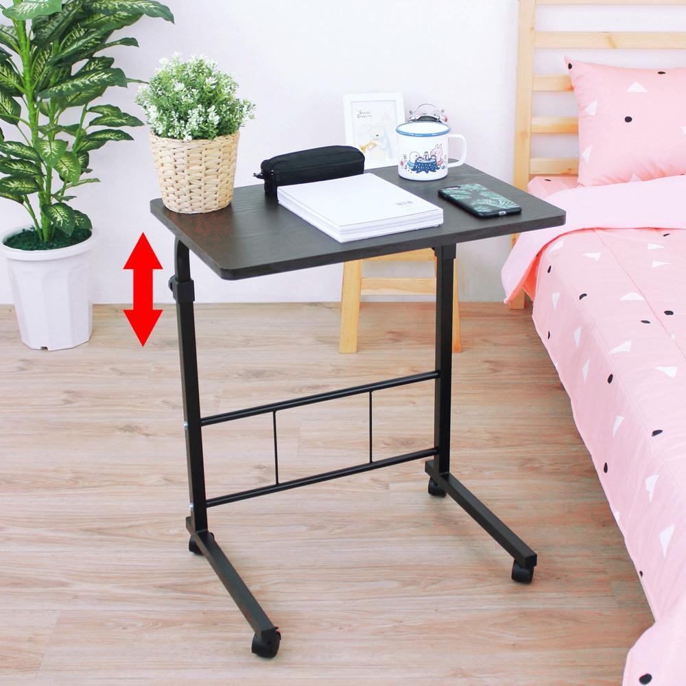 頂堅 [活動式]升降床邊桌/電腦桌/餐桌-寬60x深40x高71.5-91.5/公分