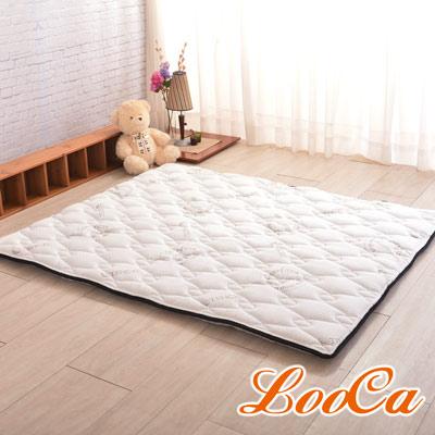 (贈天絲記憶枕)LooCa 法國防蹣防蚊+頂級天絲-超厚8cm兩用日式床墊(雙人)