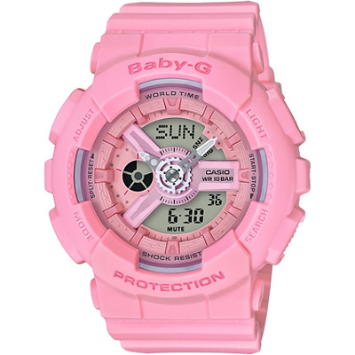 BABY-G 少女心雙顯腕錶-桃紅(BA-110-4A1)/43mm
