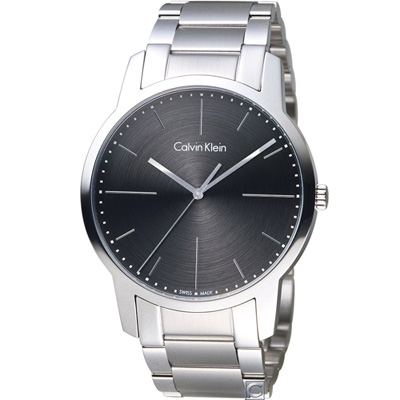 Calvin Klein CK  都會系列簡約時尚腕錶(K2G2G1Z3)灰/43mm