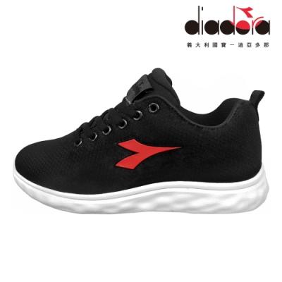 Diadora 女輕量慢跑鞋 寬楦 黑 DA9AWR7230