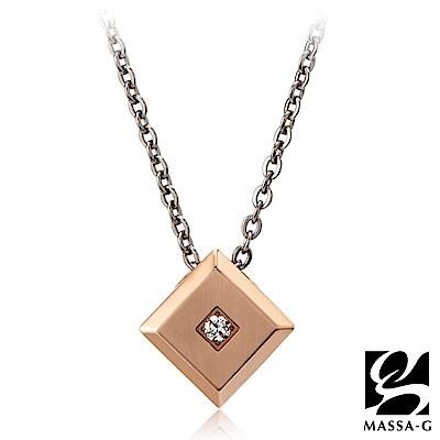 MASSA-G LJ系列【the Diamond玫瑰磚】金屬鍺錠純鈦項鍊