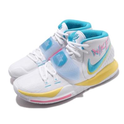 Nike 籃球鞋 Kyrie 6 EP 厄文 男鞋 Neon Graffiti 刺繡勾勾 白 藍 電繡 BQ4631101