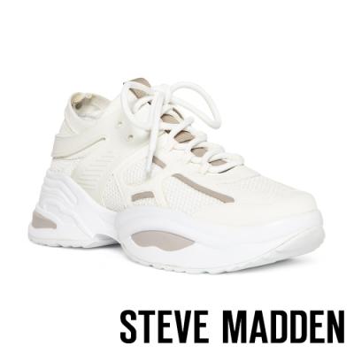 STEVE MADDEN-FONTINA 潮流款透氣網布拼接時尚老爹鞋-特殊紋白色