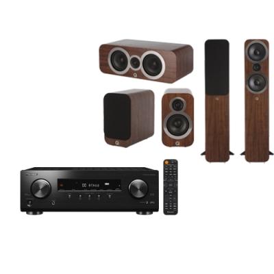 Pioneer 先鋒和Q ACOUSTICS 擴大機 VSX-534和喇叭豪華組-胡桃木色