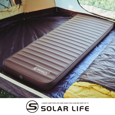Coleman 達人舒適單人氣墊床(可雙面用) 達人系列MASTER SERIES/CM-38137.雙面充氣睡墊 單人露營睡墊 自動充氣床墊 加厚10cm 帳篷睡墊