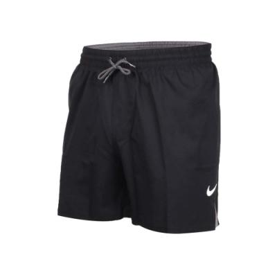 NIKE 男5吋海灘短褲-慢跑 海邊 戲水 黑灰白