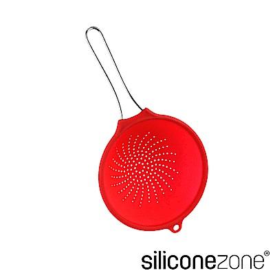 Siliconezone 20cm施理康耐熱矽膠食物瀝水網杓-亮紅色(小)