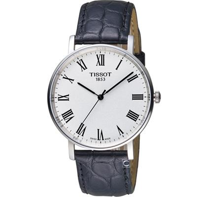 TISSOT天梭Everytime經典時尚腕錶-黑/38mm