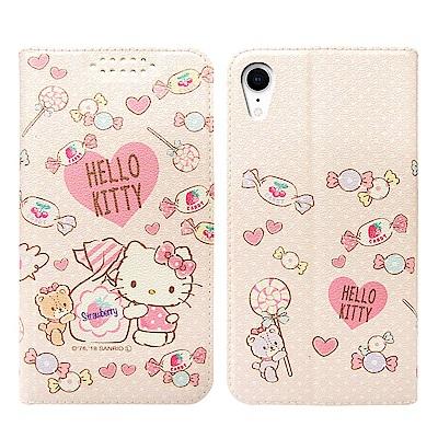 三麗鷗授權 凱蒂貓 iPhone XR 6.1吋 粉嫩系列彩繪磁力皮套(軟糖)