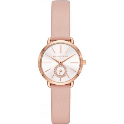 MICHAEL KORS優雅設計真皮腕錶/MK2735