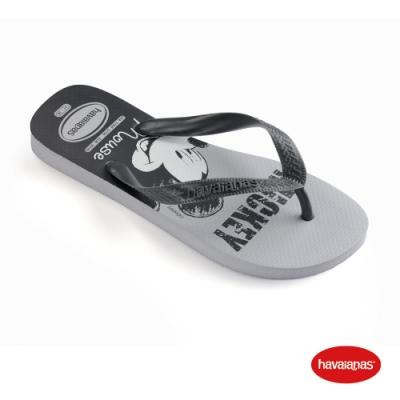 Havaianas 哈瓦仕 拖鞋 夾腳拖 人字拖 巴西 男鞋 女鞋 淺灰 4139412-3498U Disney 迪士尼 米老鼠 Top