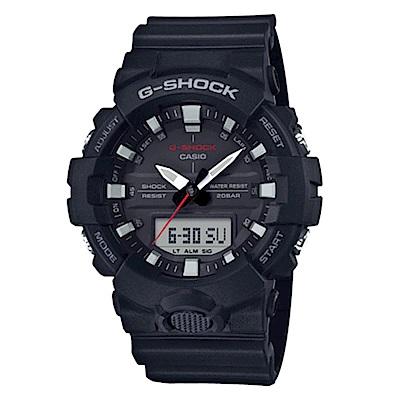 G-SHOCK 實用必備絕對強悍元素設計休閒錶(GA-800-1A)黑色48.6mm
