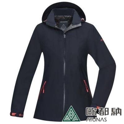【ATUNAS 歐都納】女款GORE-TEX防水防風單件式外套A1GTAA02W黑