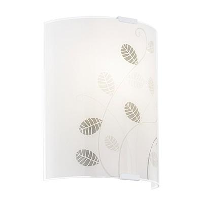 EGLO歐風燈飾 現代白樹葉彩繪圓弧式壁燈(不含燈泡)