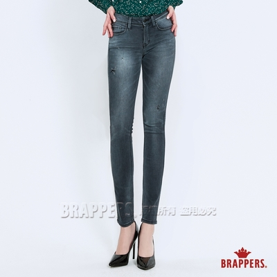 BRAPPERS 女款 新美腳ROYAL系列-低腰彈性skinny窄管褲-淺黑灰