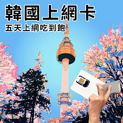 【2入組】韓國5天上網吃到飽/SIM卡/網路卡