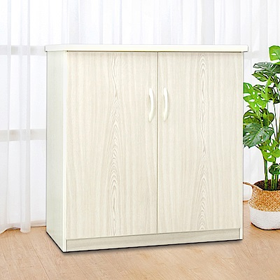Boden-2.8尺二門防水塑鋼收納櫃/置物櫃(四色可選)-84x43x81cm