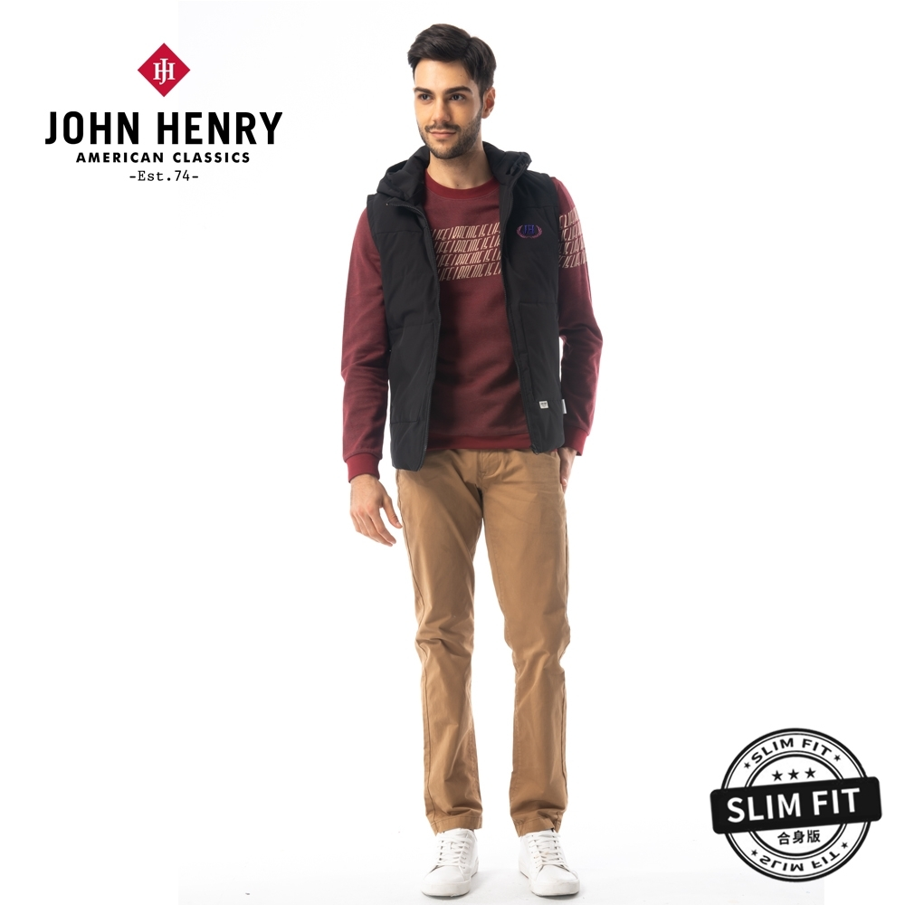 【JOHN HENRY】反光條設計羽絨背心外套-兩色選