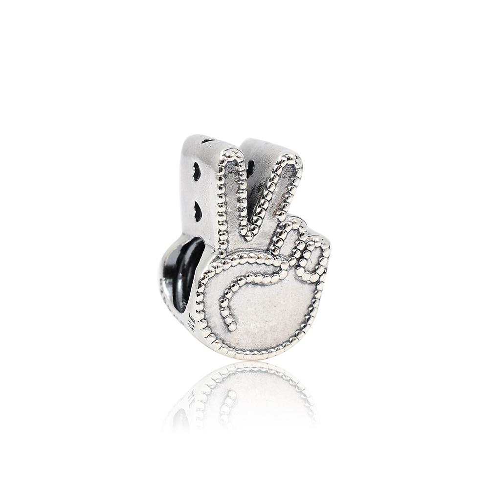 Pandora 潘朵拉 魅力和平符號 純銀墜飾 串珠