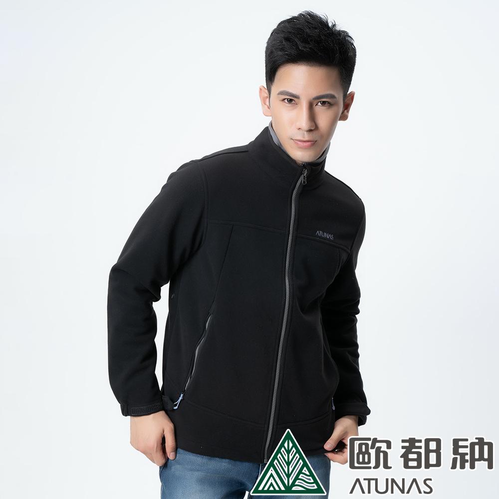 【ATUNAS 歐都納】男款WINDSTOPPER風衣保暖外套A3-G1711M黑