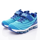 FILA頂級童鞋 針織果凍氣墊運動鞋款 EI13T-313藍(中大童段)