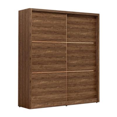 文創集 波德5.2尺衣櫃(吊桿+二抽+穿衣鏡面+內開放層格)-156x60x197免組