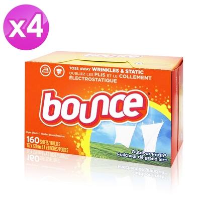 美國進口 Bounce 烘衣柔軟片(160片)-4入組