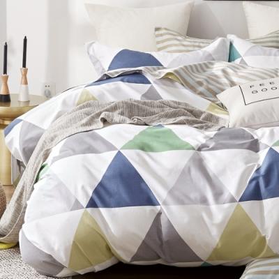 戀家小舖 / 單人床包枕套組 慢活時光 100%精梳純棉