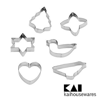 KAI貝印 House Select不鏽鋼餅乾壓模(樹.星星)-6入裝