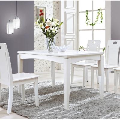 MUNA 喬治亞4.3尺白色餐桌(不含椅) 130X80X76cm