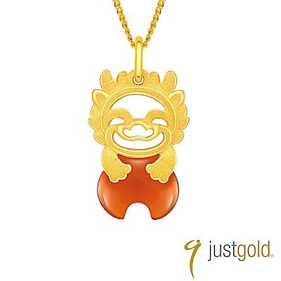 鎮金店 Just Gold 吉祥寶寶十二生肖純金系列 黃金墜子-龍