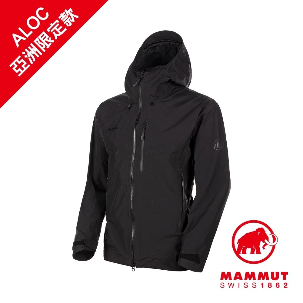 【Mammut 長毛象】Ayako Pro HS Hooded Jacket AF GTX 防水連帽外套 黑色 男款 #1010-27550(*網路限定款)