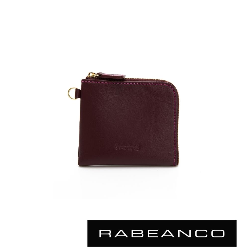 RABEANCO 時尚名品系列拉鍊小零錢包 紫