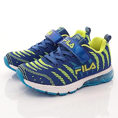 FILA頂級童鞋款 針織氣墊款 EI26R366藍綠(小童段)0