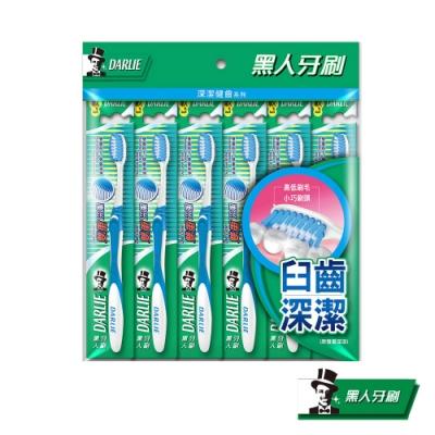 黑人 雙重深潔牙刷6入 顏色隨機