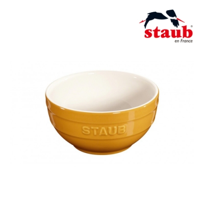 法國Staub 圓型陶瓷碗 12cm 芥末黃