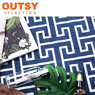 【OUTSY】巨大普普風加厚防水鋪棉野餐墊/沙灘墊-海洋之心 (隧道帳適用)