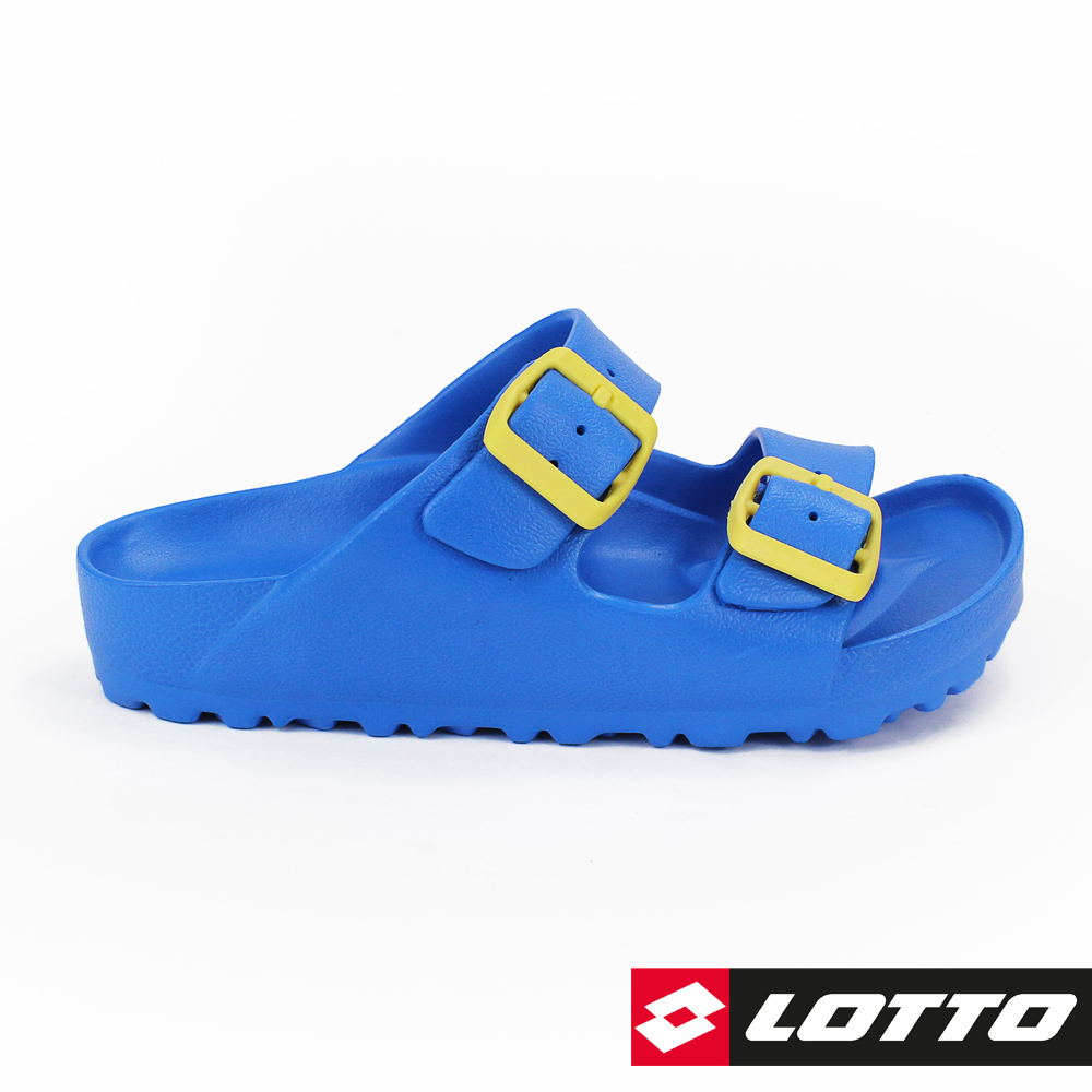LOTTO 義大利 童 BURANO拖鞋 (藍)